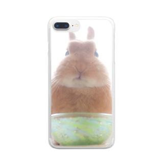 もぐもぐたわしちゃん Clear smartphone cases