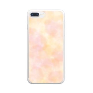 水彩だいだい Clear smartphone cases