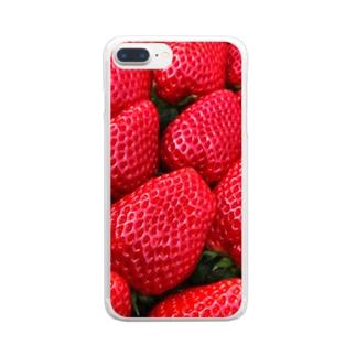 採れたて苺 Clear smartphone cases