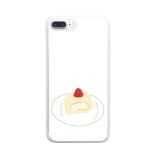 ロールケーキだよ Clear smartphone cases