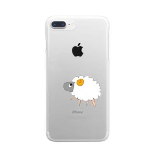 Kusoひつじくん Clear smartphone cases