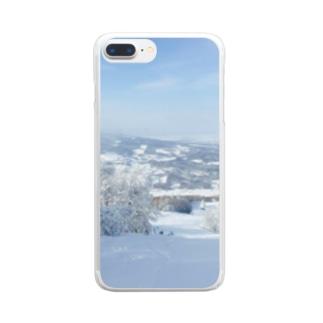 樹氷とともに Clear smartphone cases