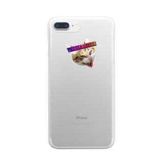 縞三毛猫きいの発狂YEAR Clear smartphone cases