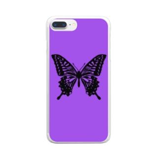 アゲハ蝶 Clear smartphone cases