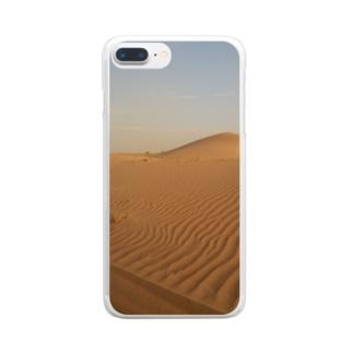 サハラ砂漠 Clear smartphone cases