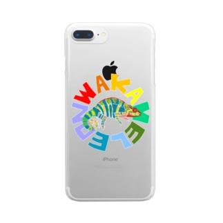 わかめれおん Clear smartphone cases