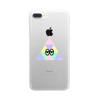 サンカクん Clear smartphone cases