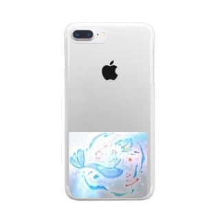 海のお茶会vol.2 Clear smartphone cases