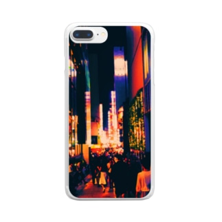 colorful Shinjuku Clear smartphone cases