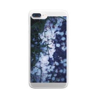 路面花見 Clear smartphone cases