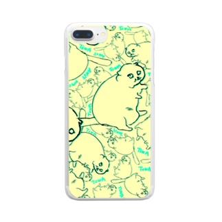 でぶねこころりん Clear smartphone cases