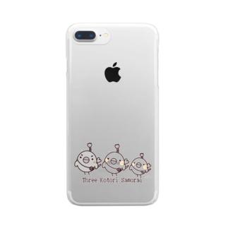 三匹のコトリ侍 Clear smartphone cases