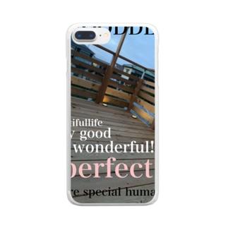 ウッドデッキプリ Clear smartphone cases