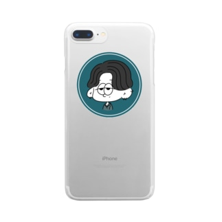 目死んだセンター分け Clear smartphone cases