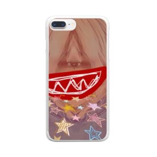 口に出したいユーモアな星 Clear smartphone cases