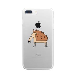 傷口にハリネズミ Clear smartphone cases