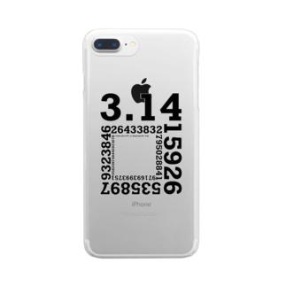 円周率 Clear smartphone cases