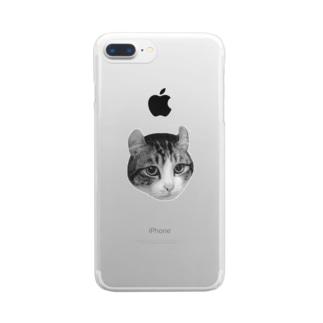 毛を逆立てる リ Clear smartphone cases
