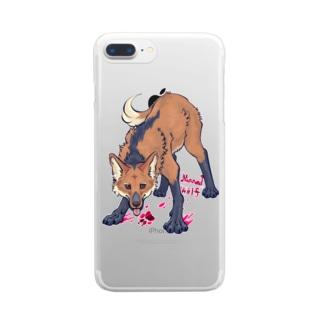 タテガミオオカミ Clear smartphone cases