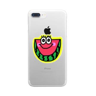 スイカくん🍉💗 Clear smartphone cases