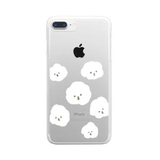 なんか白いやつ Clear Smartphone Case