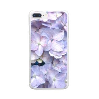 紫陽花の花言葉は移り気 Clear smartphone cases