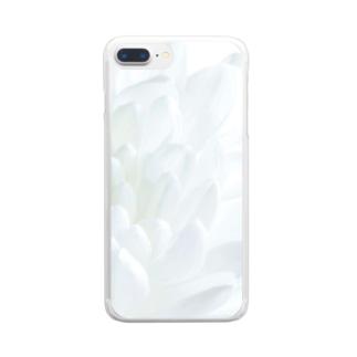 ほわいとふらわー Clear smartphone cases