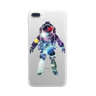 夢見る宇宙服-プラネット Clear smartphone cases