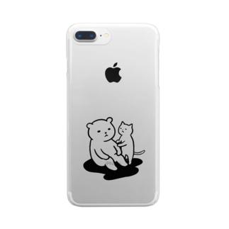 思案するクマ Clear smartphone cases