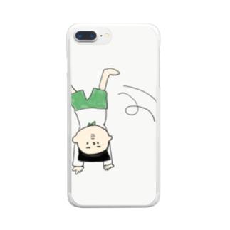 側転坊や Clear smartphone cases