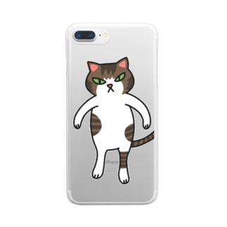 新・ねこのごまおはぎ Clear smartphone cases