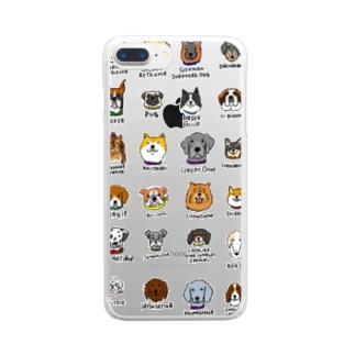 犬たくさん Clear smartphone cases