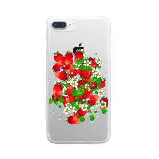 フレッシュ☆ストロベリー Clear smartphone cases
