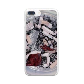 灰皿くん Clear smartphone cases