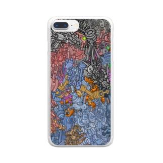 ハマダ ミノルのアイアン・メタル Clear smartphone cases
