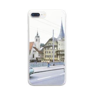スイス:ルツェルン湖畔の風景写真 Switzerland: Luzern Clear smartphone cases