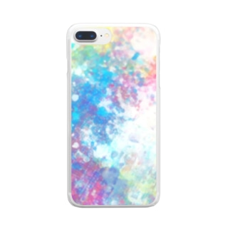 colourful canvas N Clear smartphone cases