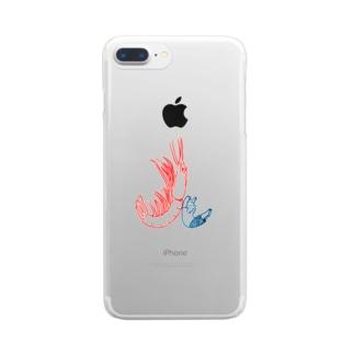 よるのあきのえびふれ Clear smartphone cases