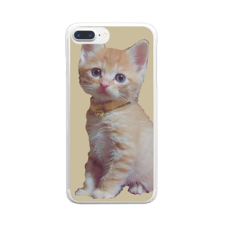 天使な茶トラ猫 Clear smartphone cases