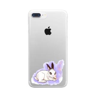 ダンディなうさぎさん Clear smartphone cases