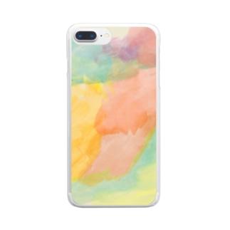 satonoe colorful Clear smartphone cases