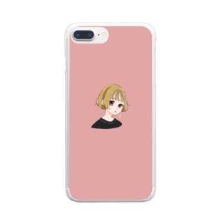 金髪女子 Clear smartphone cases