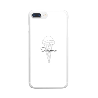 Summer🍨 Clear smartphone cases
