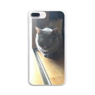 エサは漁ってません Clear smartphone cases