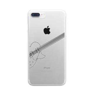 ギター Clear smartphone cases