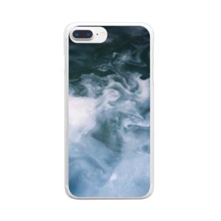 Qoocanの持ち歩くもや Clear smartphone cases