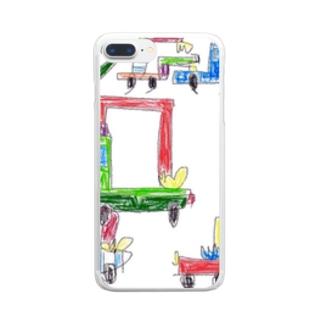 働く車の群れ part2 Clear smartphone cases
