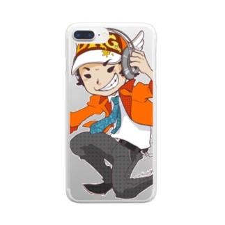 でき心。のアイコンのキャラクターカラー版 Clear smartphone cases