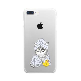 OGNdesignの猫 ねこ NO.31 Clear smartphone cases