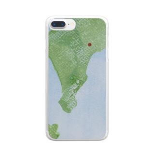 ザキヤマ カナコの無い国の地図1 Clear smartphone cases